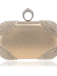 cheap -Women's Bags Polyester Evening Bag Crystal / Rhinestone Gold / Black / Golden