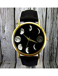 cheap -Women's Quartz Wrist Watch Moon Phase Leather Band Elegant Fashion Black Brown