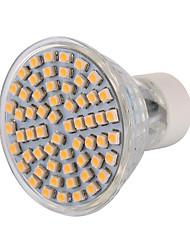 5W GU10 Faretti LED MR16 60 leds SMD 3528 Decorativo Bianco caldo Luce fredda 400-500lm 2800-3200/6000-6500K AC 220-240 AC 110-130V