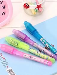 3pcs stylos d'écriture invisibles (couleur aléatoire)