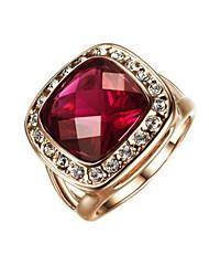 preiswerte -Ring Damen kubische Zirkonia Legierung Legierung 6/7/8/9 Gold eleganten Stil