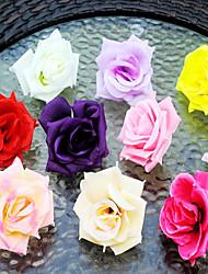 Une succursale Soie Plastique Roses Guirlande et Fleur Murale Fleurs artificielles 8x8x8x7cm
