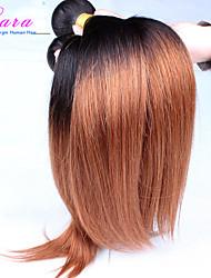 """economico -10 """"-26"""" capelli capelli verdi vergini malesi di capelli estensioni dei capelli ombre due tono 1b / 30 diritto 3 pezzi / lotto"""