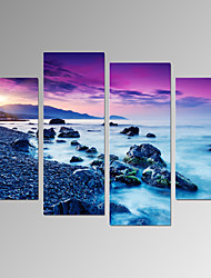 cheap -Landscape Classic, Four Panels Canvas Vertical Print Wall Decor Home Decoration