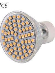 abordables -YWXLIGHT® 600 lm GU10 Spot LED MR16 60 Perles LED SMD 3528 Décorative Blanc Chaud / Blanc Froid 220-240 V / 5 pièces / RoHs / CE