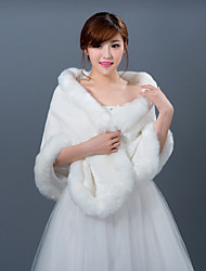 cheap -Sleeveless Faux Fur Wedding Fur Wraps Wedding  Wraps Shawls