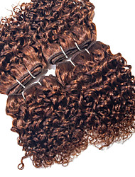 Halloween 4 Pieces Curly Human Hair Weaves Brazilian Texture Human Hair Weaves Curly