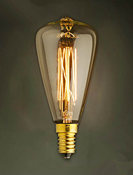 E14 40W St48 Yellow Light Bulb Edison Small Screw Cap Retro Chandelier Decorative Light Bulbs