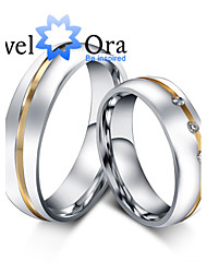 cheap -Women's Band Rings Fashion Cubic Zirconia Steel Jewelry Party