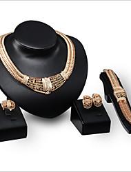 abordables -Femme Strass Ensemble de bijoux Comprendre Anneaux Boucles d'oreille Colliers décoratif Bracelets - Strass Alliage Pour Mariage Soirée