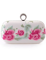 Women Bags Spring Summer Fall Winter All Seasons Polyester Evening Bag Flower for Wedding Event/Party Casual Formal Office & Career White
