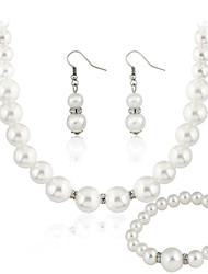 cheap -Women's Jewelry Set Wedding Party Daily Casual Pearl Earrings Necklaces Bracelets & Bangles