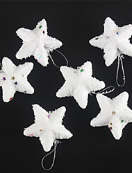 cheap -Fashion Merry Christmas White Snow Stars For Christmas Party Decoration 6 PCS