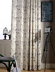 economico -paese curtains® due pannelli vite tela verde floreale poliestere tenda miscela