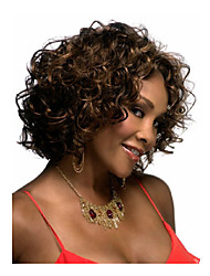 cheap -Lady Women Medium Brown  Syntheic  Wave  Wig Extensions Beautiful wig