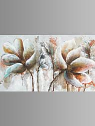 Ručno oslikana Cvjetni / Botanički Horizontalan Hang oslikana uljanim bojama Početna Dekoracija Jedna ploha