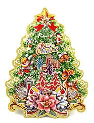 Christmas Trees Window Sticker Contemporary , Art Deco M:34*25cm,L:42*30cm,XL:53*45cm