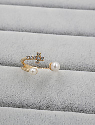 cheap -Women's Pearl / Rhinestone / Imitation Diamond Cross Band Ring - Luxury / Open / Adjustable Ring For Wedding / Party / Daily
