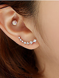 cheap -Women's Stud Earrings Fashion Luxury Costume Jewelry Rhinestone Imitation Diamond Alloy Star Jewelry For Wedding Party Daily Casual