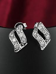 Žene Klipse Zircon Kubični Zirconia Glina Jewelry Vjenčanje Party Dnevno Kauzalni Nakit odjeće