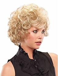 cheap -Top Quality  European Women Lady Blonde  Color  Syntheic Wave Wig From Stock