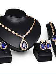 cheap -Jewelry Set - Cubic Zirconia Vintage, Party, Work Include Screen Color For Party / Special Occasion / Anniversary / Earrings / Necklace