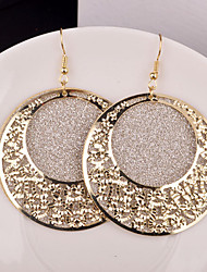 cheap -Women's Drop Earrings Statement Jewelry Festival/Holiday Personalized Bridal Costume Jewelry Alloy Circle Jewelry For Wedding Party