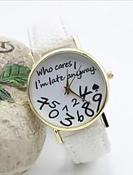 cheap -Women's Quartz Wrist Watch Hot Sale Leather Band Word Watch Fashion Black White