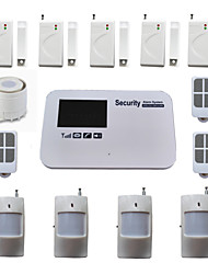 GSM Alarm System Burglar Home Anti Thieft Security Wireless Wired With PIR Door Sensor Voice SMS Call Android IOS App