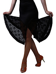 cheap -Latin Dance Bottoms / Dresses&Skirts / Skirt Women's Training / Performance Milk Fiber Lace Natural Skirt / Jazz / Ballroom / Samba