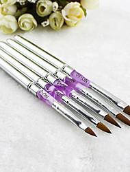 1шт серебряные УФ-гель акрил ногтей искусство украшения кисти живопись ручка советы маникюр инструмент