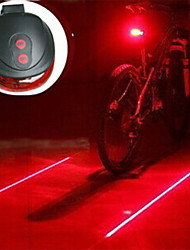 Bicycle Cycling Laser Tail Light 2 Laser & 5 LED 3 Modes Mountain Bike Safety Warning Flashing Lamp Alarm Rear Light