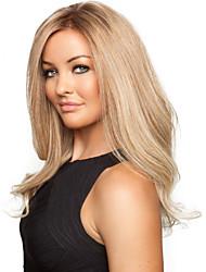 billige -Syntetiske parykker Bølget Blond Syntetisk hår Blond Paryk Lang Lågløs