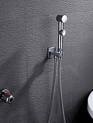 Robinet de douche - Contemporain - Thermostatique / Douchette inclue - Laiton (Chromé)