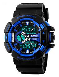 Недорогие -SKMEI Муж. Спортивные часы Наручные часы Кварцевый LED Календарь Секундомер Защита от влаги С двумя часовыми поясами тревога Спортивные