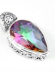 Men's Women's Pendants Gem Silver Plated Topaz Geometric Jewelry Wedding Party Daily Casual Sports 1pc