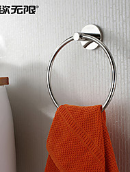"""cheap -Towel Ring Stainless Steel Wall Mounted 150x 150 x 50mm (5.9 x 5.9 x 1.96"""") Stainless Steel Contemporary"""