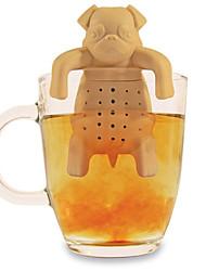 силиконовые чай кофе для заварки мило мопс в кружку чайник травяной специи фильтра фильтр (случайный цвет)