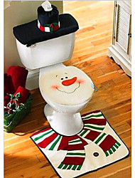 cheap -Christmas Washroom Decoration Santa Snowman Toilet Seat Cover