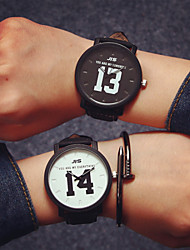 cheap -Men's Women's Couple's Quartz Wrist Watch Hot Sale Leather Band Charm Fashion