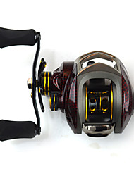 SHISHAMO 6.3:1, 18 Ball Bearings One Way Clutch BC150 Baitcasting Reel Fishing Reel, Left Handed Carp Fishing Reel