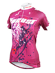 ILPALADINO Cycling Jersey Women's Short Sleeves Bike Jersey Tops Quick Dry Ultraviolet Resistant Breathable Compression Lightweight