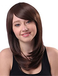Capless Mix Color Long Length High Quality Natural Straight Hair Synthetic Wigs