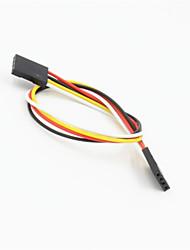 Недорогие -DuPont 4-контактный 2.54мм женщин и женщин расширение проводной кабель для arduino- (20см)