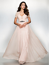 cheap -A-Line Sweetheart Floor Length Chiffon Lace Prom / Formal Evening Dress with Lace by TS Couture®