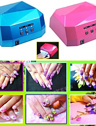 36W LED CCFL UV Light Nail Dryer Diamond Shaped Curing Lamp Machine Gel Nail Polish EU Plug 220V Or 110V
