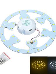 baratos -jiawen 24w 2300lm 6500k / 3200k 48-smd5730 branco / fonte de luz branca quente para lâmpada de teto / unha magnética (ac170 ~ 265v)