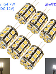 cheap -4W G4 LED Corn Lights T 27 SMD 5050 250-300 lm Warm White Cold White 3000/6000 K Decorative DC 12 AC 12 V
