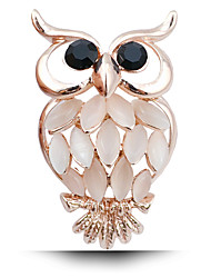 cheap -New Fashion Lady Owl Diamond Brooch