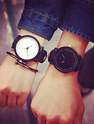 cheap -Break Couple Creative Cool Waterproof Minimalist Unisex Quartz Rubber Strap Relogio Wristwatch Casual Women Watches Cool Watches Unique Watches